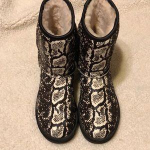 Ugg snake print boots